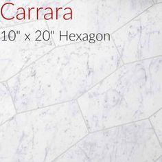 Carrara Hexagon Porcelain Large Format Tile On Sale Sq - 20 x 20 porcelain tile sale