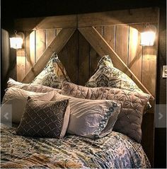 Rustic Headboards rustic king headboard, queen headboard in vintage designed barn
