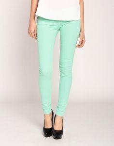 Klique B Colored Skinny Jeans in Cool Jade on LoLoBu ($20-50) - Svpply