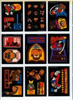 donkey kong cards Donkey Kong, Arcade, Video Games, Nintendo, Printables, Stickers, Cards, Fun, Fin Fun