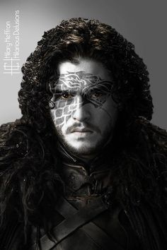 Jon Snow (Winter Edition) | Game of Thrones War Paint by Hilary Heffron - Hilarious Delusions