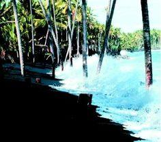 Black Sand Beaches on Big Island Of Hawaii