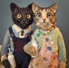 Art and Oddities Creepy Toys, Candy Art, Art Textile, Textile Artists, Cat Doll, Little Doll, Soft Sculpture, Sculptures, Felt Art