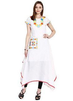 White Cotton Asymmetrical Tunic
