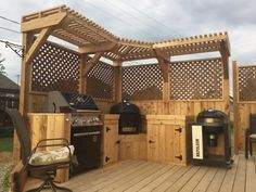 My new BBQ corner - Primo Grill Forum There are plenty of items that can Steep Backyard, Outdoor Smoker, Planter Beds, Corner Pergola, Kitchen Corner, Back Gardens, Vintage Lighting, Outdoor Cooking, Living Spaces
