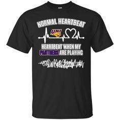 Uni Panthers T shirts Heartbeat When My Panthers  Playing Hoodies Sweatshirts