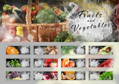 Fruits and Vegetables calendar 2018 cover