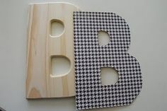 Mod Podge Wooden Letters from The Shabby Nest