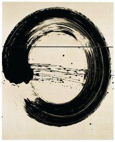 Fabienne Verdier - L'art de la calligraphie monumentale - Cercle blanc I - 2007