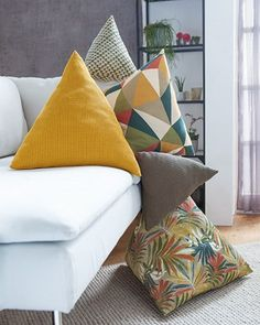 Coin Couture, Couture Sewing, Diy Pillows, Decorative Pillows, Cushions, Diy Interior, Home Decor Furniture, Diy Clothes, Sewing Projects