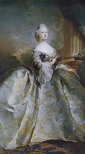 Princess Louise (1724 - 1751). Daughter of King George II and Queen Caroline. She married Frederick V of Denmark and had four children.