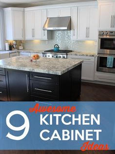 9 awesome kitchen cabinet ideas http://www.kludgymom.com/kitchen-cabinet-ideas/