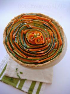 DOLCEmente SALATO: Crostata di zucchine e carote alla maggiorana
