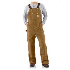 6ec24307f16d0 Carhartt Men s Duck Zip to Thigh Bib Overalls Unlined R37   MensFashionRugged Big Men Fashion