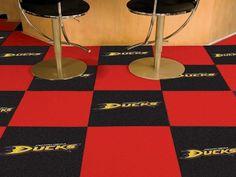 Anaheim Ducks 20Pk Area/Gym Carpet/Rug Floor Tiles