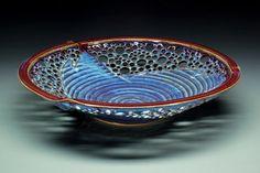 Handmade pottery, Holey Bowl by Hamilton Williams; $265