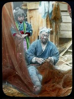 A SCENE IN OLD JAPAN -- Little Girl with Fisherman | by Okinawa Soba (Rob)