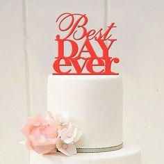 Aliexpress.com: Compre Melhor dia sempre bolo de casamento Topper bolo de casamento Topper em Modern original escolha de aniversário bolo Topper de confiança toppers decorações do bolo fornecedores em ming fan's store