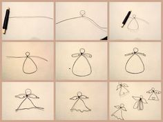 DIY Wireangel / DIY wire nails - super easy and easy !, DIY wire nails / DIY wire nails - super easy and uncomplicated! Source by . Diy Jewelry Rings, Diy Jewelry Unique, Diy Jewelry To Sell, Diy Jewelry Making, Body Jewelry, Wire Ornaments, Angel Ornaments, Wire Crafts, Holiday Crafts