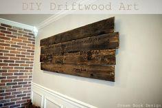 DIY Driftwood Art tutorial on dreambookdesign.com