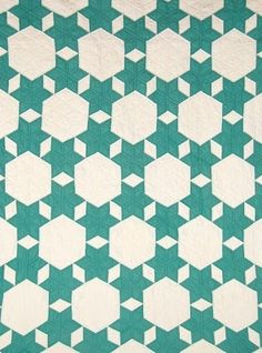 """Super pretty """"Seven Sisters"""" quilt from the 1930's."""