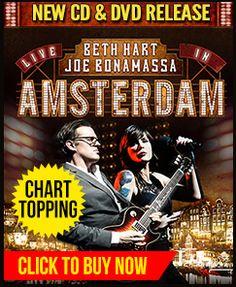 Beth Hart & Joe Bonamassa DVD/Blu-Ray/CD 'Amsterdam' Available now!