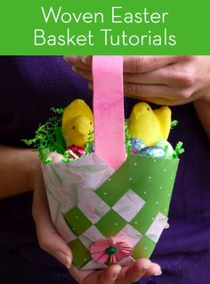 Round Up: 7 Woven Easter Basket be great at christmas as wellTutorials