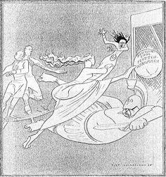 This German cartoon(July.1935), 'One goal scored!' commemorates the Anglo-Germany Naval Agreement of June 1935. The ball: 'German-English Naval Argeement' [Source: Simplicissimus]