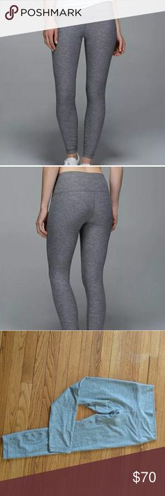 Lululemon High Times Pant Perfect condition! Super cute grey leggings, slightly high waisted. No pilling! lululemon athletica Pants Leggings
