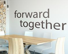 The Forward Together Wall Decal is ideal for quickly and easily transform any office workspace. Office Wall Decals, Office Walls, Vinyl Wall Art, Wall Art Decor, Creative Office Decor, White Vinyl, Office Interiors, Textured Walls, Wall Stickers