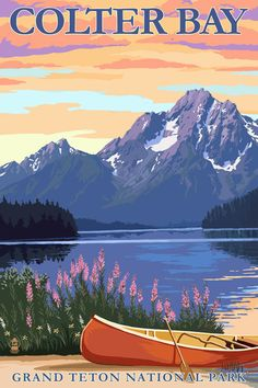 Hey, I found this really awesome Etsy listing at https://www.etsy.com/listing/242215370/grand-teton-national-park-colter-bay-art