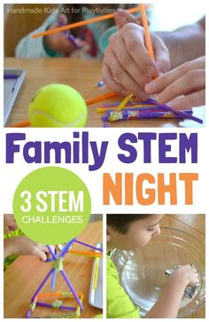 STEM Challenges for Family Game Night Stem Challenges. Many people think of STEAM (or STEM) activities to do at school, but they also are fun, engaging activities the whole family can participate in. Educational Activities For Kids, Steam Activities, Activities To Do, Summer Activities, Indoor Activities, Stem Education Activities, Teamwork Activities, Playdough Activities, Camping Activities