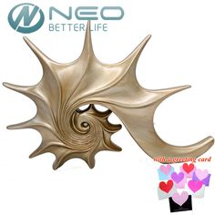 "NEO 43cm(16.9"") Height Conch Statue Sea Snail Animal Sculpture Whelk Figurine Resin Crafts Home Decoration Gift"