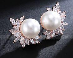 Jewelry | Etsy Plugs Earrings, Sterling Silver Dangle Earrings, Girls Earrings, Gauges Plugs, Bridesmaid Jewelry, Wedding Jewelry, Wedding Plugs, Rose Gold Pearl, Body Jewelry