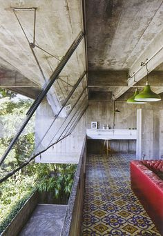 From Interior Design mag - this Paulo Mendes da Rocha architecture may be brutalist but the natural patina on the concrete with the joyful colors is delightful Interior Designers Melbourne, Architecture Design, Windows Architecture, Deco Design, Design Design, Brutalist, Interior Exterior, My Dream Home, Future House
