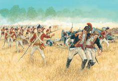 The battle of Freeman's Farm September 1777; American Revolutionary War