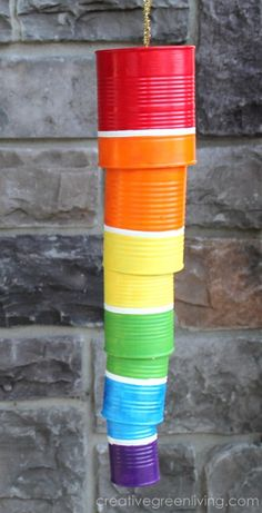 Rainbow Wind Chime  - Fun Family Crafts