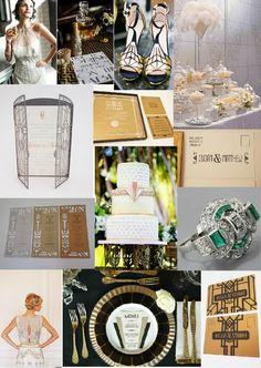 Gatsby Wedding Theme - http://www.classicweddinginvitations.com.au/bridal-clutches/
