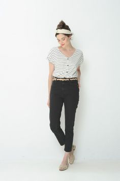 Tee shirt Thilou Blanc Noir