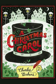 A CHRISTMAS CAROL by Charles Dickens -- A timeless holiday classic with stunning, colorful chalk art cover illustration. Puffin Chalk–collect them all! Best Christmas Books, Christmas Carol Book, Christmas Lyrics, Ghost Of Christmas Past, Christmas Fun, Christmas Classics, Christmas Cover, Xmas, English Christmas