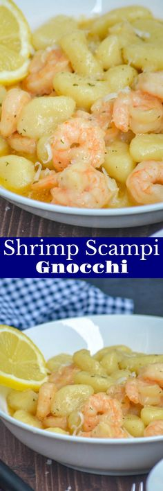 Gnocchi is even better than pasta, and takes on flavors just as well. Paired with shrimp in a garlic butter sauce, with a teensy bit of cream? You've got this Gnocchi Shrimp Scampi that's a to-die for dinner, even on a budget. #shrimp #gnocchi #scampi