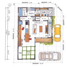 いいね!773件、コメント15件 ― 清家修吾さん(@seike_shugo)のInstagramアカウント: 「. 【ボツプラン163】 階段下は何にも使えないから、トイレ奥行をあと20〜45cmは深くしてみても面白いかもね。 .…」 Japanese House, House Plans, Sweet Home, Floor Plans, Layout, How To Plan, Architecture, Modern, Inspiration