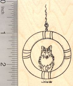 Dog Agility Rubber Stamp Border Collie Jump by Rubberhedgehog