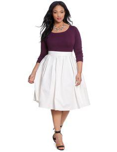 Studio Midi Skirt | Women's Plus Size Skirts | ELOQUII