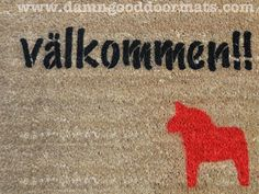 Swedish Dala Horse Doormat | Damn Good Doormats