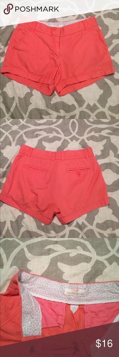 Salmon J Crew shorts! Salmon colored, J Crew shorts! Chino style, broken in & 100% cotton! So comfy! J. Crew Shorts