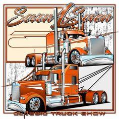 Truck Signs, Kenworth Trucks, Truck Art, Big Rig Trucks, Airbrush, Rigs, Art Work, Diesel, Stickers