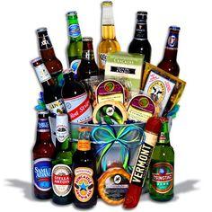 Beer Gift Baskets: If he's a beer lover, we've got the perfect beer gift basket for him! Choose from beer bucket gifts, beer basket gifts, microbrew gift baskets! Gifts For Beer Lovers, Beer Gifts, Man Gifts, Beer Basket, Basket Gift, Silent Auction Baskets, Bday Gifts For Him, Gift Baskets For Men, Raffle Baskets