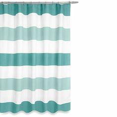 Boca Shower Curtain in Aqua - BedBathandBeyond.com
