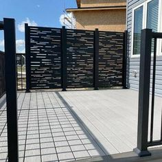 Balcony Privacy Screen, Privacy Walls, Privacy Wall On Deck, Outdoor Privacy, Backyard Privacy, Privacy Fence Designs, Outdoor Rooms, Outdoor Decor, Outdoor Movie Nights